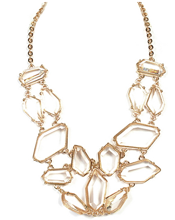 Transparency Statement Necklace $32.00 http://www.shoplemode.com/