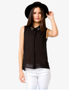 Forever 21 Pearlescent Chiffon Shirt $17.80