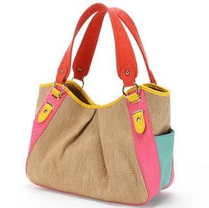 $35.40 Kohls Apt. 9® Brooklyn Straw Snakeskin Shopper Bag